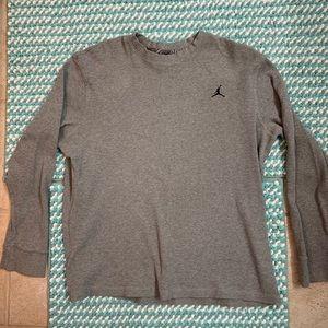 Jordan Brand Long John Long Sleeve Shirt ,Grey, XL